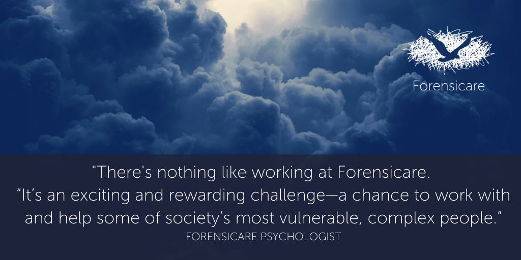 There's nothing like working at Forensicare in forensic psychology.