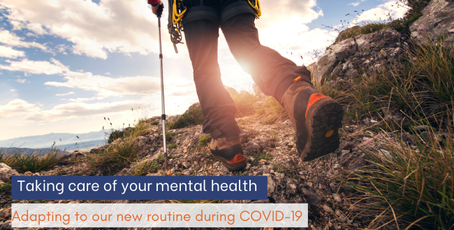 Taking care of your mental health: Adapting to our new routine during COVID-19