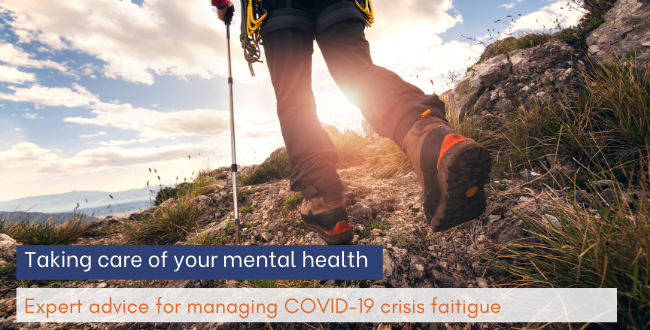 Crisis fatigue hitting you hard? Our experts share mental health advice.