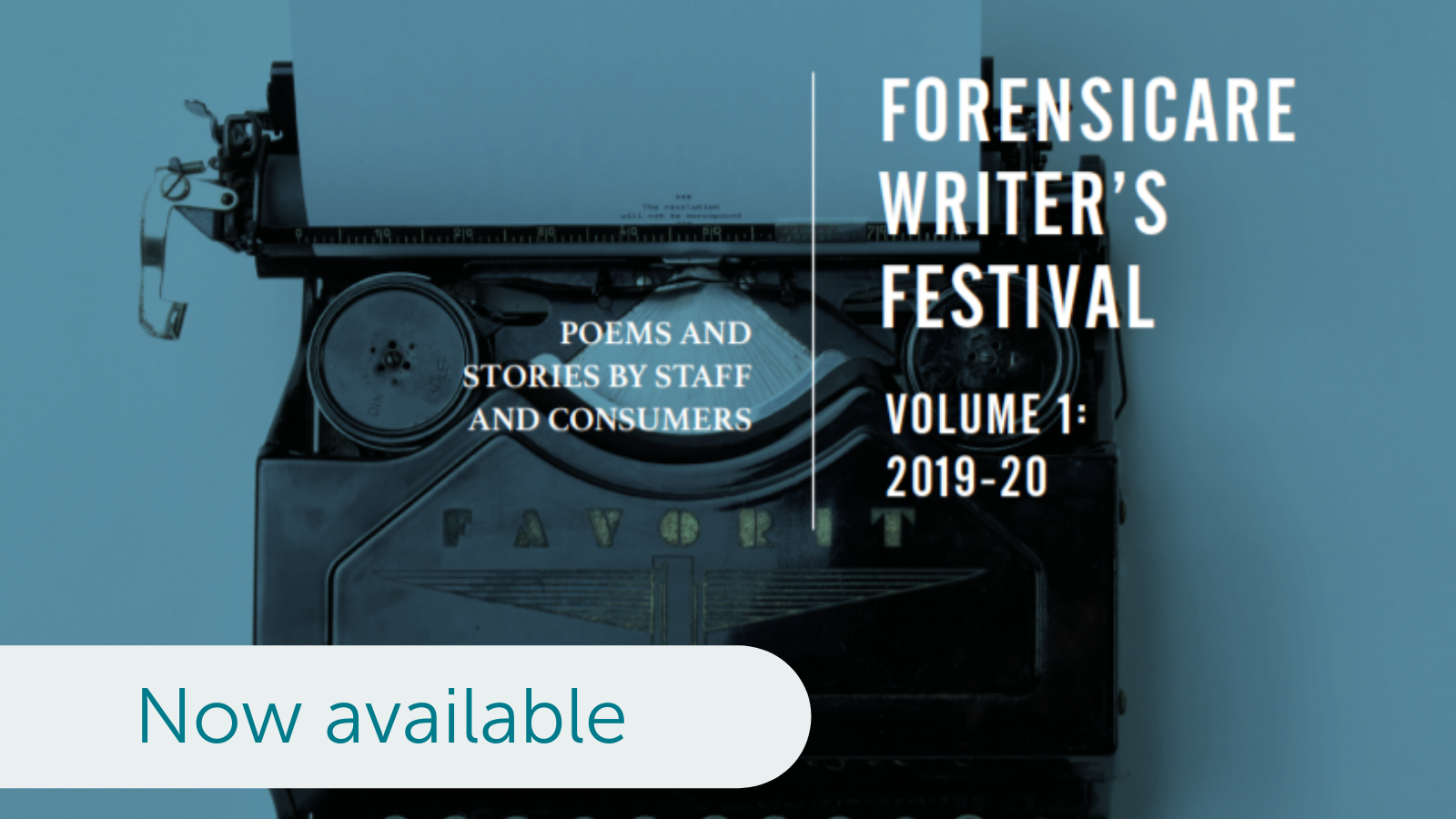 Forensicare Writer's Festival volume 1 2019-2020 now available